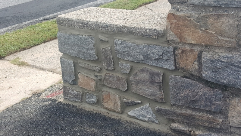 Stone Retaining Wall Repair and Pointing