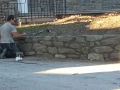 New Stacked Stone Retaining Wall in Villanova PA